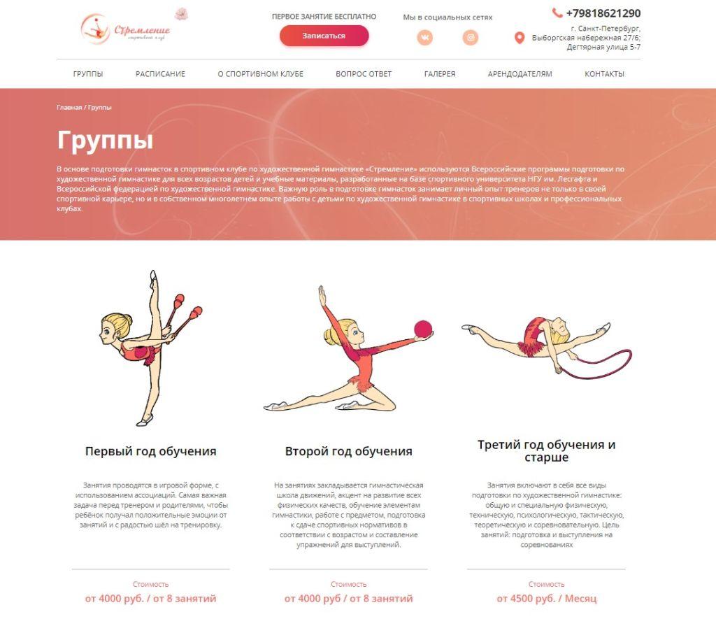 Стремление - школа художественной и эстетический гимнастики